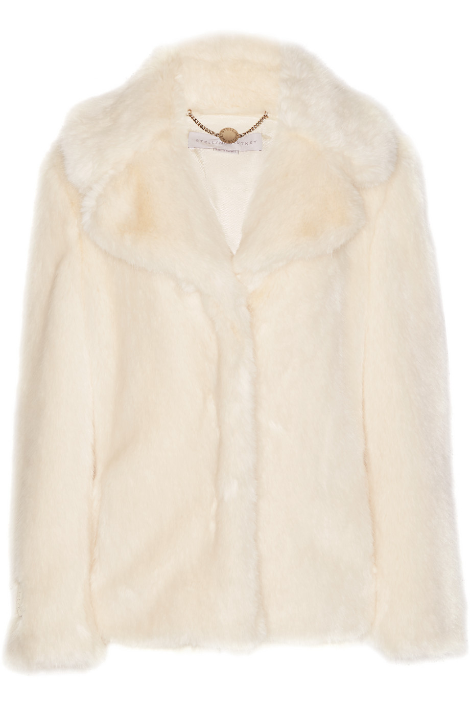 Stella Mccartney Faux Fur Coat, Cream, Women's, Size: 42