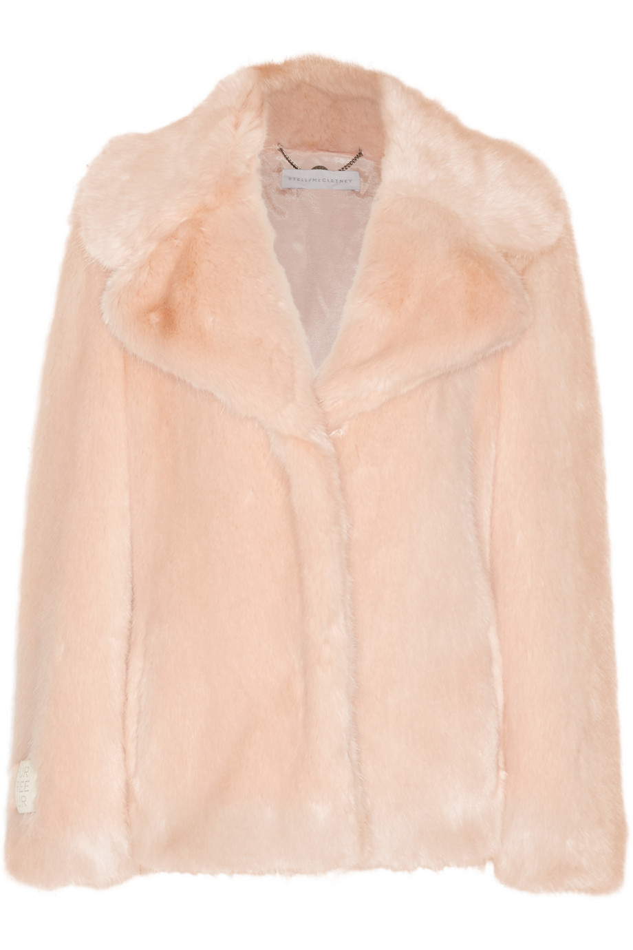 Stella Mccartney Faux Fur Coat, Blush, Women's, Size: 38