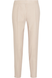 Vivian wool-piqué straight-leg pants
