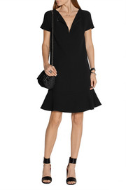 Stella McCartney Cynthia fluted stretch-crepe mini dress