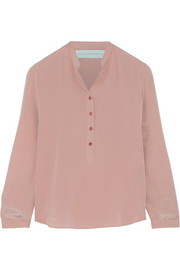 Eva silk crepe de chine blouse