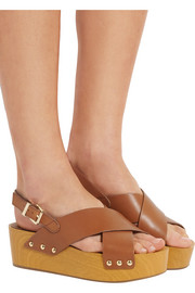 Bentlee leather platform sandals