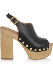 Marley leather platform clogs
