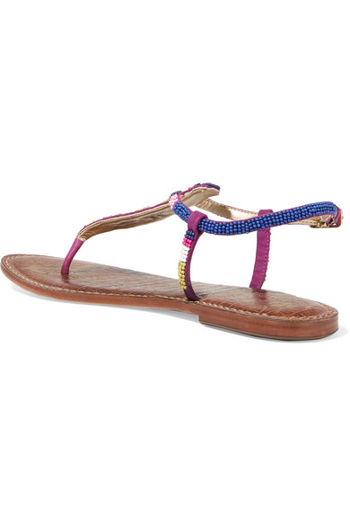 a3bd8064b7a1 Sam Edelman. Gail beaded leather sandals.  80. Zoom In