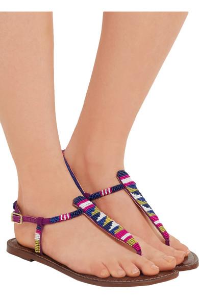Sam Edelman. Gail beaded leather sandals cca3b27d0e14