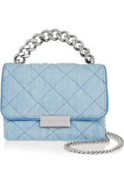 Beckett quilted denim shoulder bag
