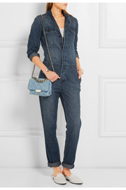 Stella McCartney Beckett quilted denim shoulder bag
