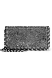 Stella McCartney The Falabella embellished faux suede shoulder bag