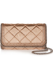The Falabella metallic faux patent-leather shoulder bag