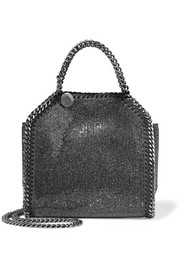 Stella McCartney The Falabella tiny embellished faux suede shoulder bag