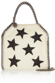 Stella McCartney The Falabella glittered faux leather shoulder bag