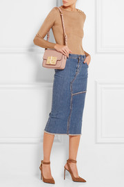 Natalia small textured-leather shoulder bag