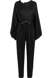 Morgane Aio embellished satin jumpsuit