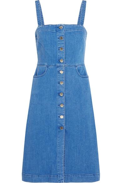 Stella McCartney - Linda Stretch-denim Dress - Mid denim