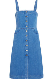 Linda stretch-denim mini dress