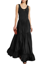 Stella McCartney Elsa tiered silk maxi skirt