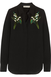 Stella McCartney Embroidered silk shirt