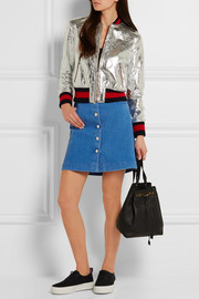 Stretch-denim mini skirt