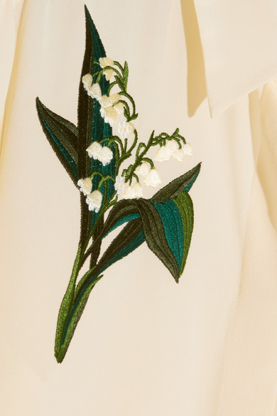 d4c13c4775387f Stella McCartney. Embroidered silk crepe de chine shirt.  508. Play. Zoom In