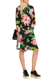 Stella McCartney Zandra floral-print stretch-crepe shorts