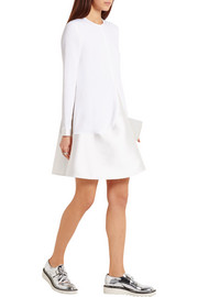 Stella McCartney Emma satin-trimmed stretch-crepe mini dress