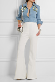 Stella McCartney Theres embroidered stretch-denim shirt