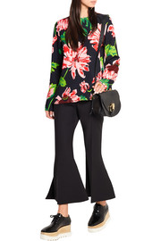 Stella McCartney Floral-print stretch-crepe top