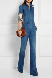 Stella McCartney Stretch-denim jumpsuit