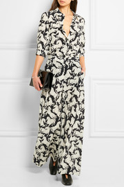 Stella McCartney Darci printed silk crepe de chine wide-leg pants