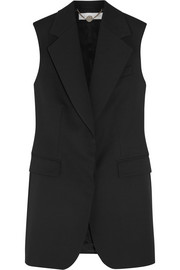 Stella McCartney Wool-piqué vest