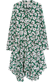 Rita floral-print silk crepe de chine dress