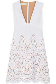 Aline broderie anglaise cotton mini dress