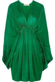 Elitta draped satin mini dress