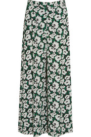Maude printed crepe de chine wide-leg pants