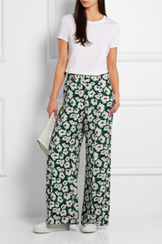 Stella McCartney Maude printed crepe de chine wide-leg pants