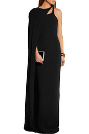 Stella McCartney Mirabella cape-effect stretch-crepe gown
