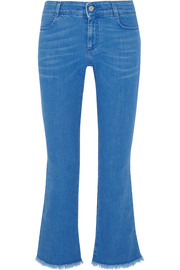 Stella McCartney Cropped low-rise bootcut jeans