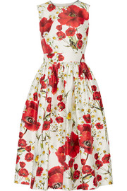 Dolce & Gabbana Floral-print cotton and silk-blend dress