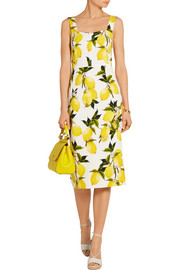 Dolce & Gabbana Printed stretch-cady midi dress