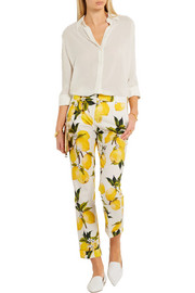 Dolce & Gabbana Printed cotton-poplin  straight-leg pants
