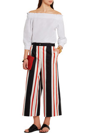 Dolce & Gabbana Cropped striped cotton-blend wide-leg pants