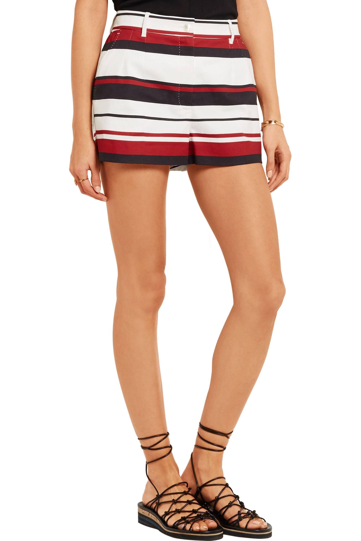 Dolce & Gabbana Striped cotton-drill shorts
