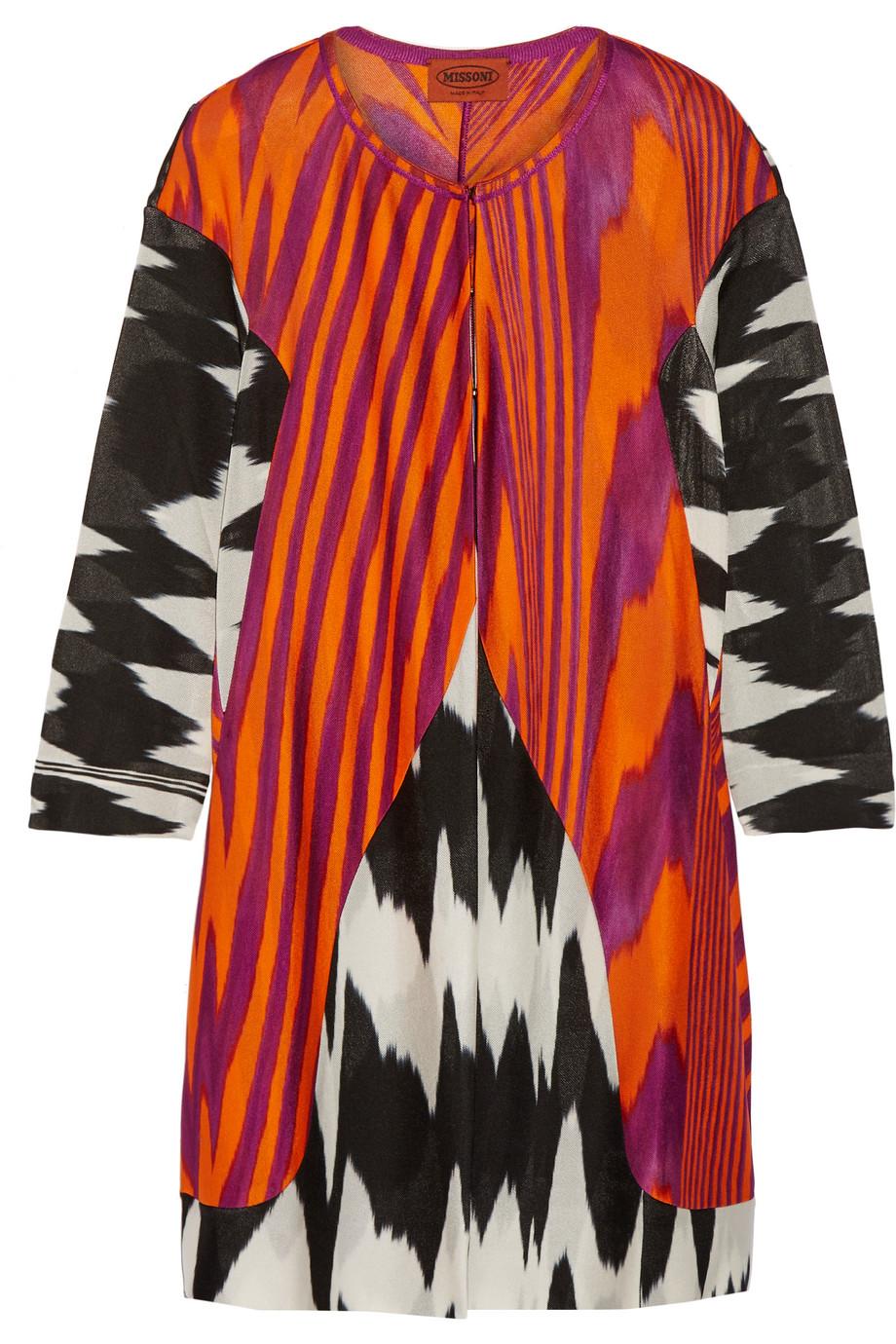 Missoni Crochet-Knit Cardigan, Orange, Women's, Size: 36