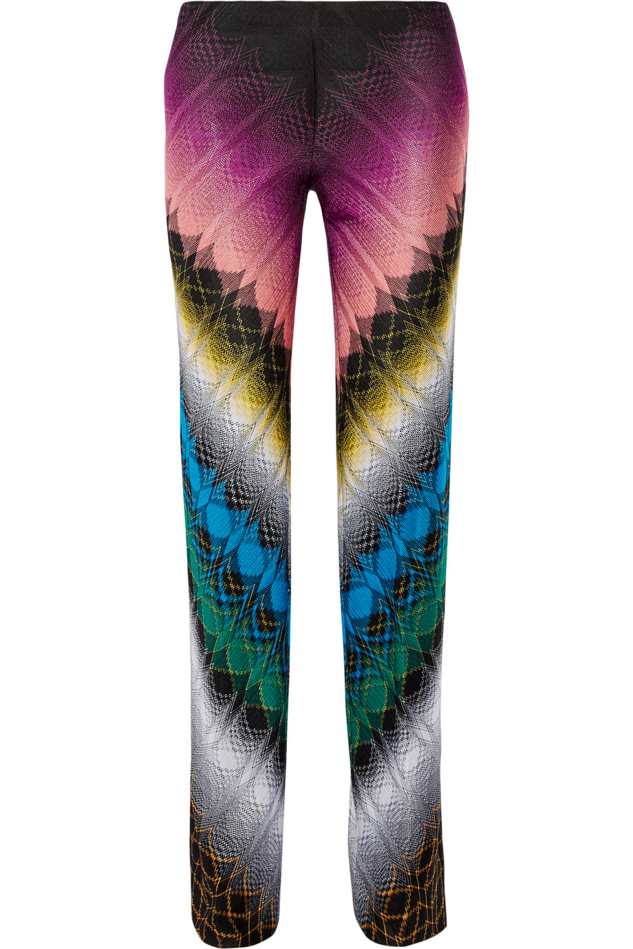 Missoni Crochet-Knit Straight-Leg Pants, Black, Women's, Size: 48