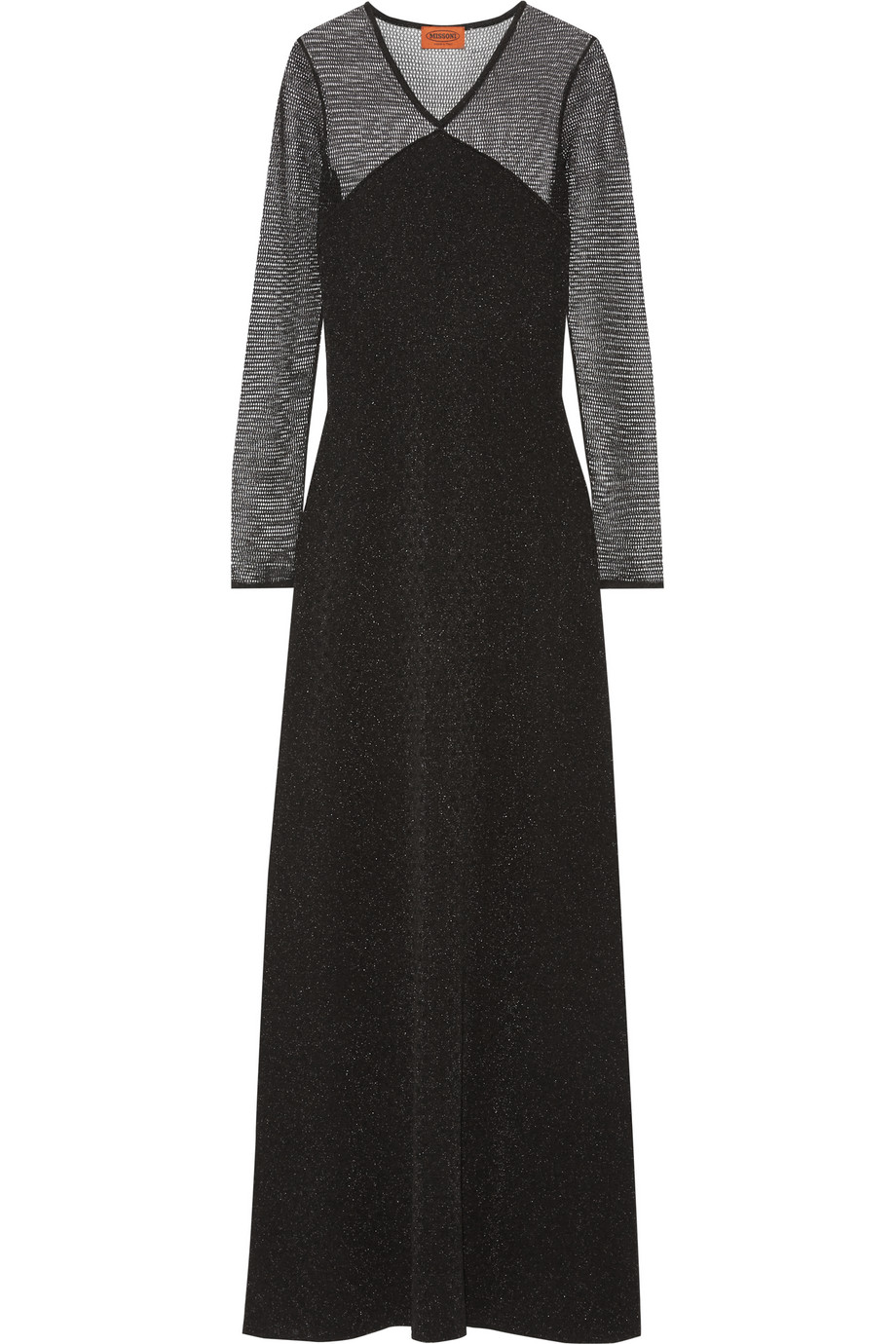 Missoni Metallic Crochet-Knit Gown, Black, Women's - Metallic, Size: 42