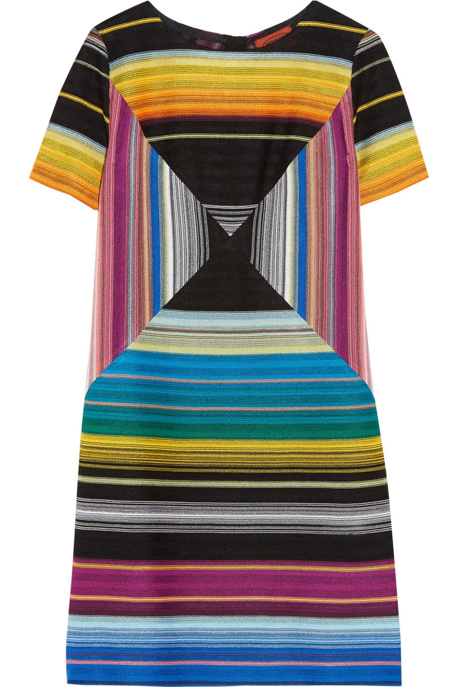 Missoni Crochet-Knit Mini Dress, Blue, Women's, Size: 44