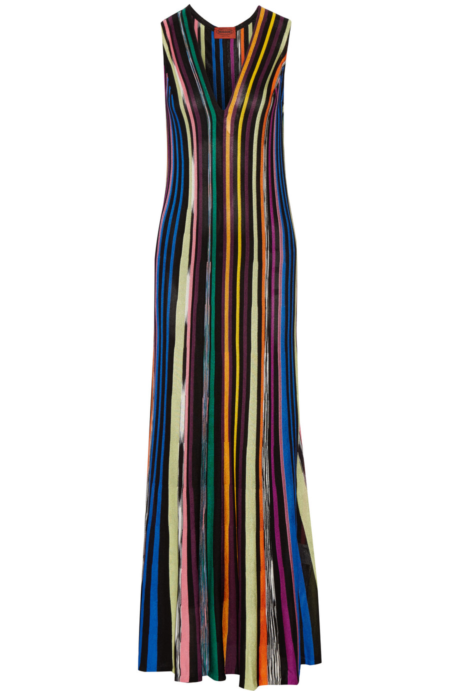Missoni Striped Crochet-Knit Maxi Dress, Blue, Women's, Size: 36