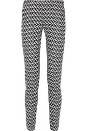 Crochet-knit slim-leg pants
