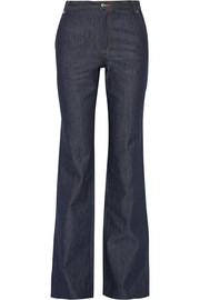Bassette high-rise wide-leg jeans
