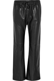 Loulou textured-leather wide-leg pants